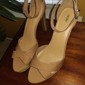 Mossimo High Heel Natural Platform Sandals